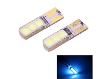 LED diodlampa T10/W5W 2W 120-140LM 6 LED Ice Blue - 2Pack