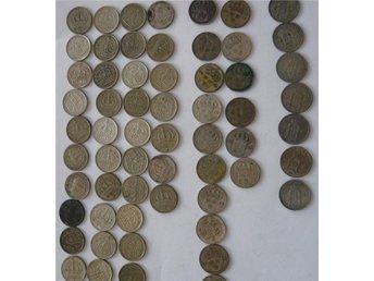 60 st. 10 öringar 1903-1958, 34 gram silver. - Göteborg - 60 st. 10 öringar 1903-1958, 34 gram silver. - Göteborg