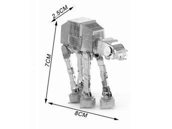 Miniatyr modell AT-AT  Star Wars i metall. Snabb frakt.