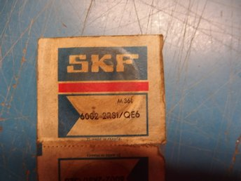 2  st kullager SKF 6002-2RS1/QE6