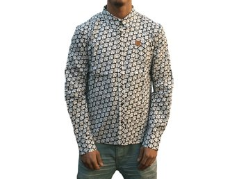 "IKNW sale! ""Basic IKNW"" Printed Shirt Male L"
