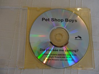 "Pet Shop Boys. Super rare USA promo Maxi CD ""Did you see me coming"" Mint"
