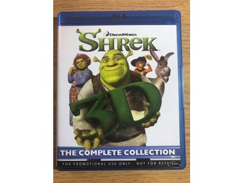 Blu-Ray 3D: Shrek 3D - The Complete Collection - Alla 4 filmerna - Svensk ljud