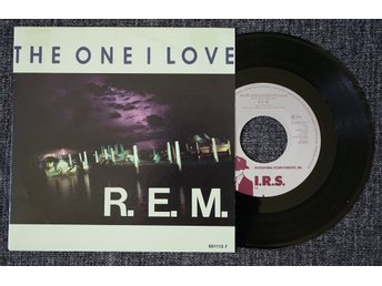 "r.e.m. / rem ""the one i love/maps and legends"" (7"", PS) mint"