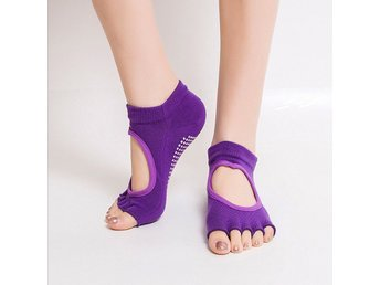 Yoga Sockar / Strumpor/Gym Sports Non-Slip 5-Toe Socks-Lila