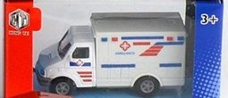 Robetoy Leksaker Bilar Cars Emergancy Car - 8cm Ambulans 61814 Vit
