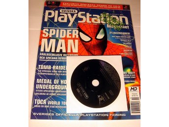 PLAYSTATION Mag  Nr34  HELT NY med CD SEP2000 SPIDER MAN !!