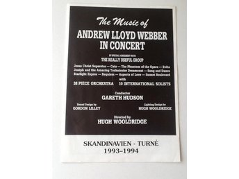 CONCERT PROGRAM, THE MUSIC OF ANDREW LLOYD WEBBER MALMÖ 1993-94