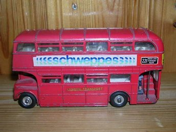 Dinky London buss Routemaster Bus Schweppes reklam
