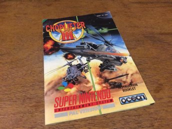 Supernintendo, SNES***Manual***Choplifter III***