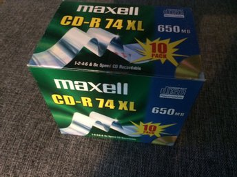 10 pack CD-R skivor, maxell 74XL 650MB