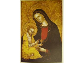 Ikonbild Madonna and child Sienese School