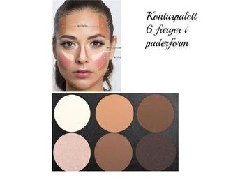 Kontur palett /Highlight /Strobing/puder 6 färger - Urshult - Kontur palett /Highlight /Strobing/puder 6 färger - Urshult
