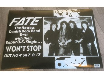 MERCYFUL FATE WON´T STOP 1986 PROMO POSTER
