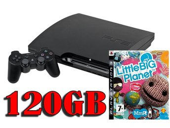 "- Playstation 3 Slim ""BARN PAKET"" 120GB Inkl. 1 HK samt Little Big PLanet -"