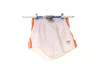 Adidas, Shorts, Strl: S, Vit/Orange