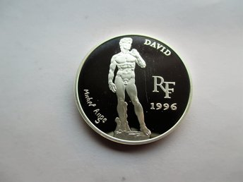 France, 10 francs - 1 1/2 euro, 1996 David by Michaelangelo