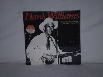 Hank Williams  -  I,m Lonesome I Could Cry             US PRESS 1986   SEALED !!