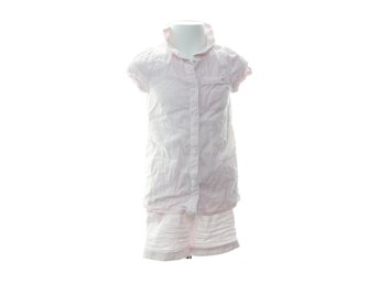 M&S Kids, Pyjamas, Strl: 128, Rosa/Vit