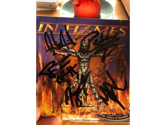 "Signerad In Flames  ""Clayman"" cd limited 3D edition with sticker, death metal,"
