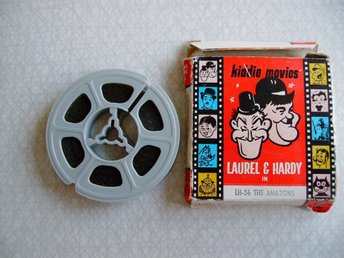 8 mm film, kiddie movies, LAUREL & HARDY in LH-56 The Amazons, 50 ft.