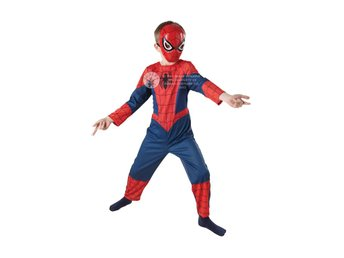 SPIDERMAN 110/116cl (5-6år) Hel dräkt med mask Spindelmannen Marvel