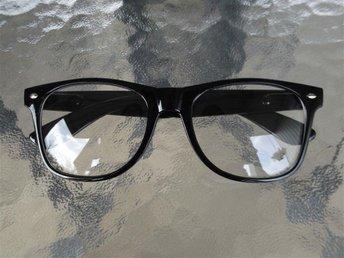 Retro Style Glasögon med klart glas, svart båge - ängelholm - Retro Style Glasögon med klart glas, svart båge - ängelholm