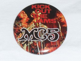 MC5 (STOR) Pin / Knapp / Badge (Proto Punk, Garage, Stooges, Hellacopters,)