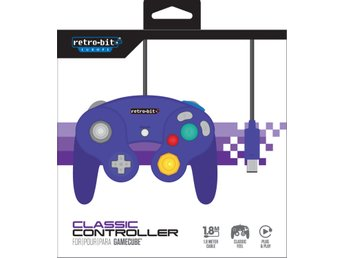 Gamecube Controller - Purple (Retro-Bit) - Gamecube