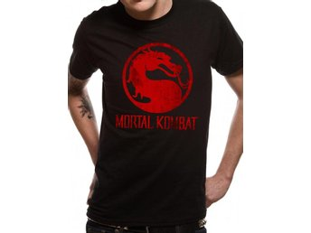 MORTAL KOMBAT - DISTRESSED LOGO (UNISEX)  T-Shirt - Extra-Large