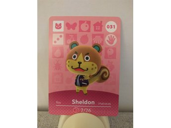 Animal Crossing Amiibo Welcome Amiibo card nr 031 Sheldon