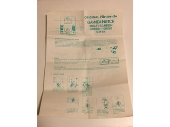 Game & Watch A4 papper Green House