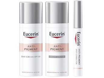3st Eucerin hudkrämer mot pigment Day Cream, Night Cream & Spot Corrector NYA!
