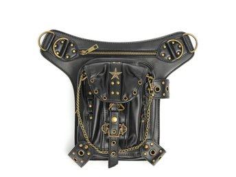 Steampunk Waist Leg Leather Bag Hip Holster Purse Vintage...