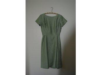 Videgrön cocktailklänning 1960-tal c979f903d2938