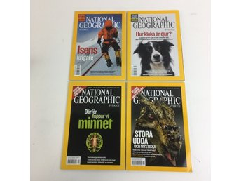 National Geographic, Tidningar, National Geographic Sverige, 4-pack