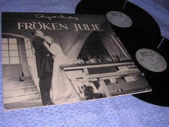 August Strindberg Fröken Julie (2LP) Rare Swedish Society EX