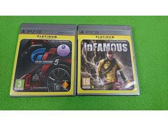 Gran Turismo 5 & InFAMOUS KOMPLETT Ps3 Playstation 3