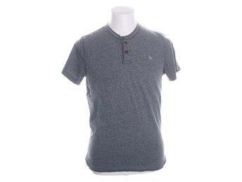 Abercrombie & Fitch, T-shirt, Strl: M, Muscle, Grå, Bomull