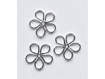 3 st  blommor i 925 sterling silver  14mm
