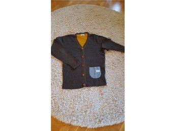 Cardigan/tröja från Jack & Jones, brun med orange detaljer i stl.L - Sollentuna - Cardigan/tröja från Jack & Jones, brun med orange detaljer i stl.L - Sollentuna