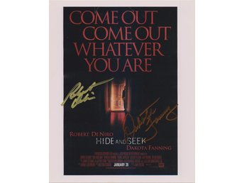 HIDE AND SEEK - MINI POSTER ROBER DeNIRO - DAKOTA FANNING PRE-PRINT AUTOGRAF FOT
