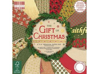 NYHET! Scrapbookingpapper 15 x 15 - First Edition The Gift of Christmas - 16 ark