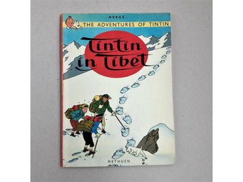 Engl. Tintin in Tibet The Adventures of . Hergé Methuen Serie album Bra skick