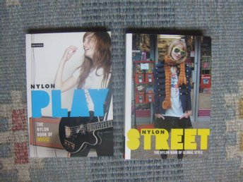 NYLON BOOK PLAY MUSIC STREET GLOBAL STYLE X 2 HÄFTADE BRA SKICK FOTON I FÄRG