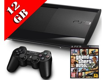 - Playstation 3 #GTA PAKET# 12GB Superslim Inkl. 1 HK samt 20% på Spel! -