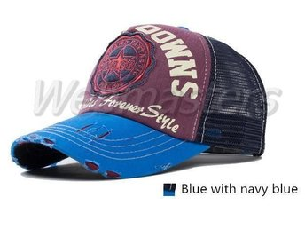 Baseball keps Navy blå snapback country stil one size