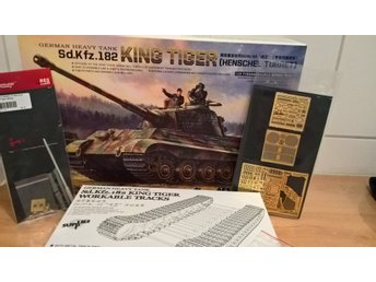 Meng, King Tiger, workable tracks, photoetc, metall barrel