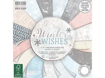 NYHET! Scrapbookingpapper 15 x 15 - First Edition Winter Wishes - 16 ark