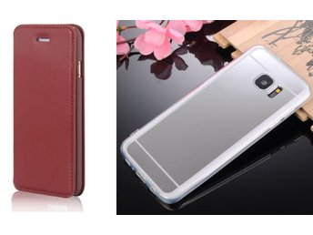 Samsung Galaxy Note 5 Brown Flip Case + Elegant Bakstycket